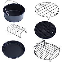 Friteuse à Air Chaud Accessoire de Cuisson pour Friteuse sans Huile 6 en 1 Kit Compatible avec la Plupart des Friteuses Air