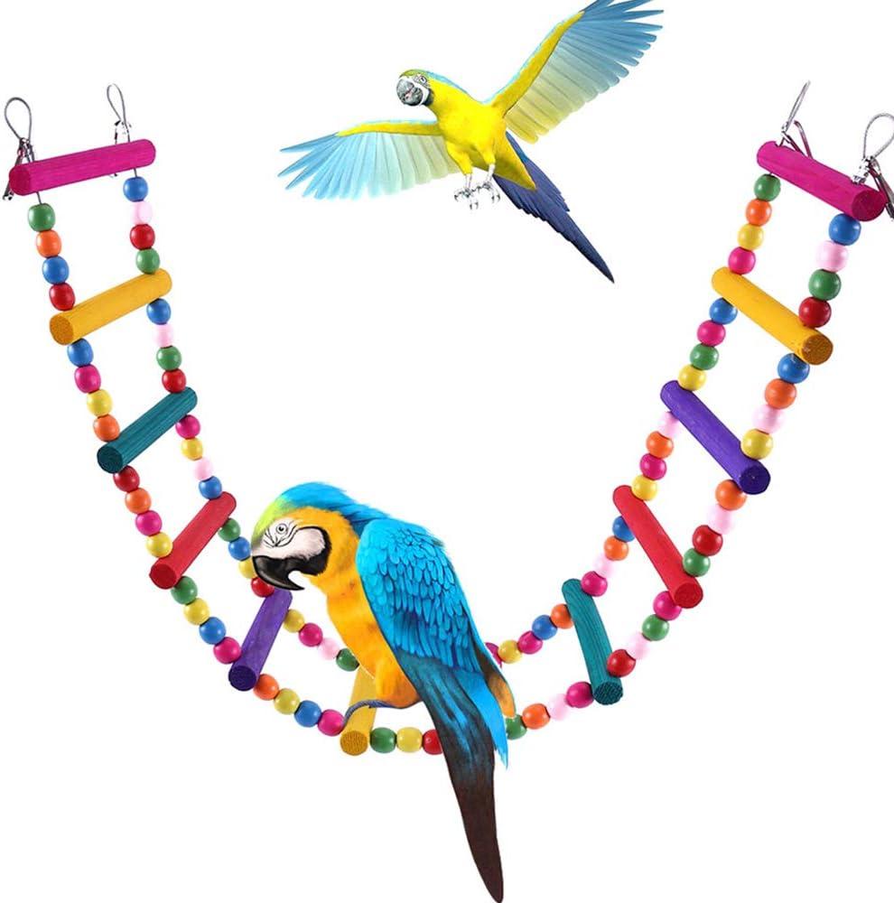 SurfMall Escalera de Pájaro Juguetes para pájaros y Loros Escala de la Subida para periquitos, cacatúas, guacamayos Grises, cacatúas africanas, Chinchillas, Ratones, Ratas, Ardillas: Amazon.es: Productos para mascotas