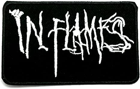 IN FLAMES Scratched Logo Patch