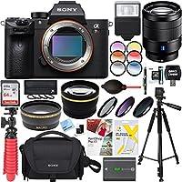 Sony a7R III 42.4MP Full-Frame Mirrorless Digital Camera with Vario-Tessar T FE 24-70mm F4 ZA OSS Lens Accessory Bundle