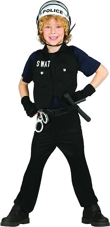 Disfraz de policía S.W.A.T. infantil (7-9 años): Amazon.es ...