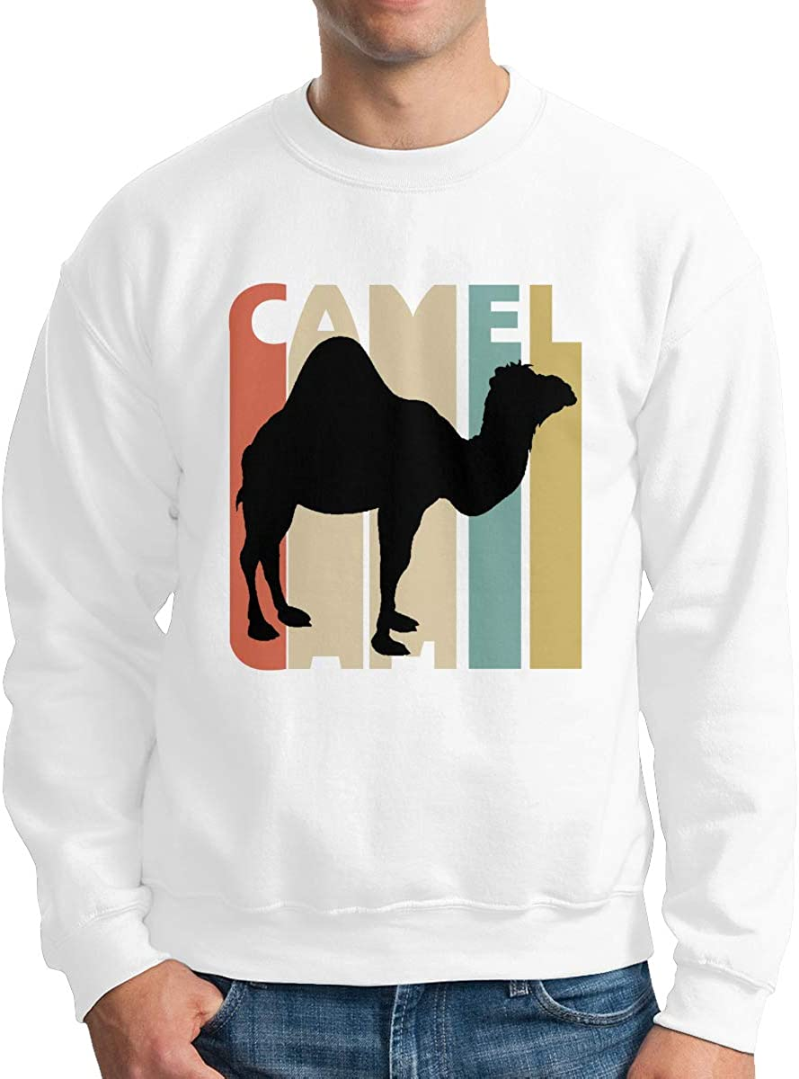 Vintage Style Camel Adult Mens Fashion Long Sleeve Sweater T-Shirt
