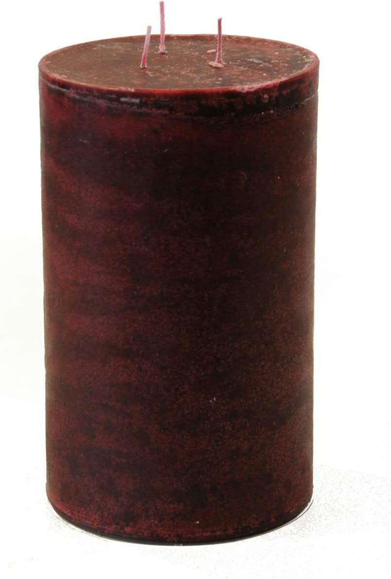 - Hochwertige Stumpenkerze mit Mehreren Dochten Dunkelrot - Altrot - H/öhe 25cm // /Ø 15cm Klocke Kerzen Gro/ße Dreidochtkerze//Mehrdochtkerze Lange Brenndauer 160 Stunden SafeCandle