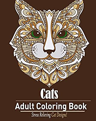 Cats: Adult Coloring Book:: Stress Relieving Cat Designs