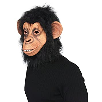 Máscara de mono accesorios disfraz animal chimpancé