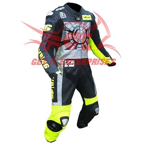 check out e9ddb a3530 Getit, tuta intera in pelle da motociclismo, tuta Valentino ...