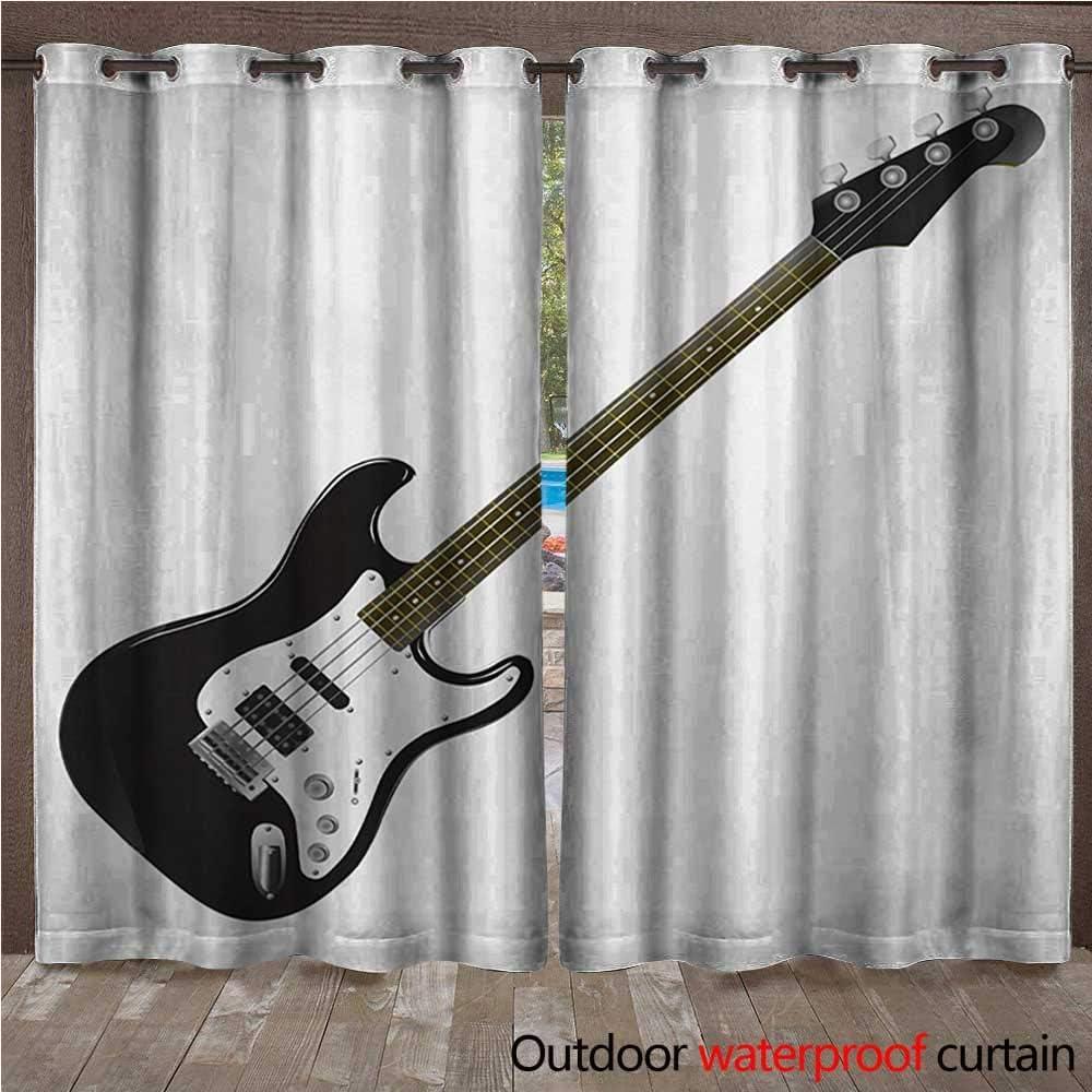 BlountDecor Guitarra Home Patio al Aire Libre Cortina ...