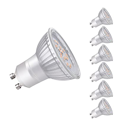 Sunix bombillas LED GU10 de 4.5W, equivalentes a Lámparas halógenas de 45W, Blanco