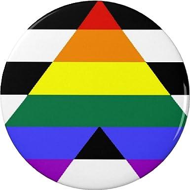 Amazon Straight Ally Flag Symbol Button Pin Hetero Support Gay