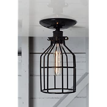 Metal Cage Ceiling Mount Light Flood Lighting Amazon Com