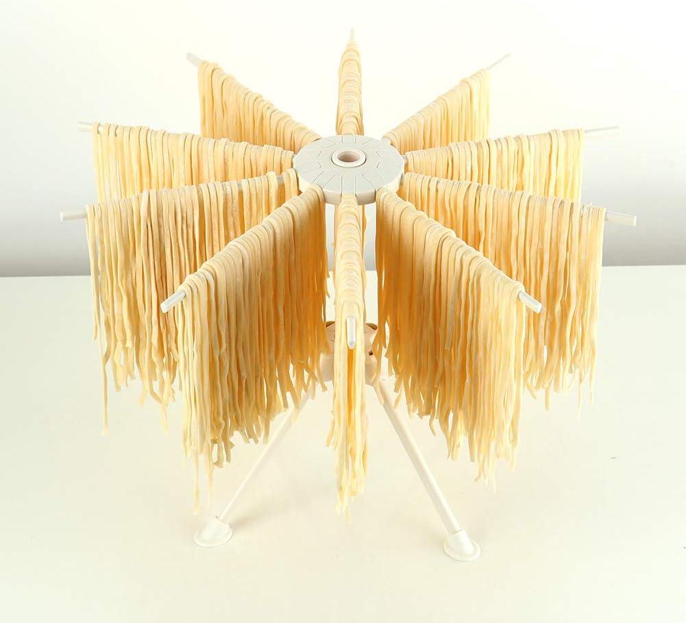 Ourokhome zusammenklappbarer Nudelst/änder aus Kunststoff mit 10 Armen