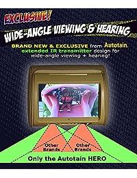2 x Digital de 9 inch visualización táctil reproductor de DVD reposacabezas monitor autotain Dream), HERO Y Black