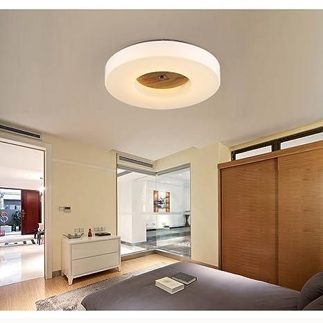 Versprechen Dimmen Decke Wohnzimmer Lampe Schlafzimmer Lampe warmes Holz  minimalistischem runden Balkon Gang Lichter Lampe LED