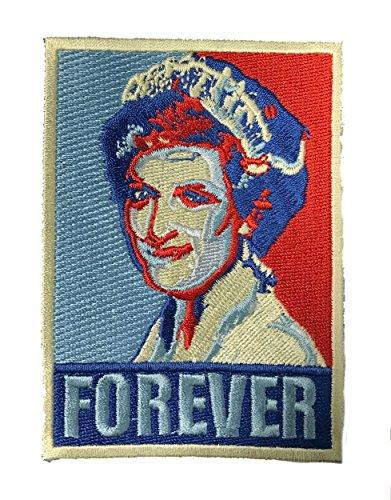 """Forever Princess Diana"" Political Poster Parody of English Princess Iron On Patch"