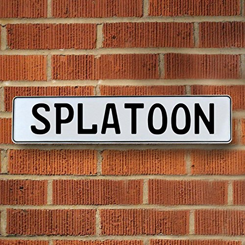 Vintage Parts Usa Vpay1506 Splatoon White Stamped Street Sign Mancave Wall Art