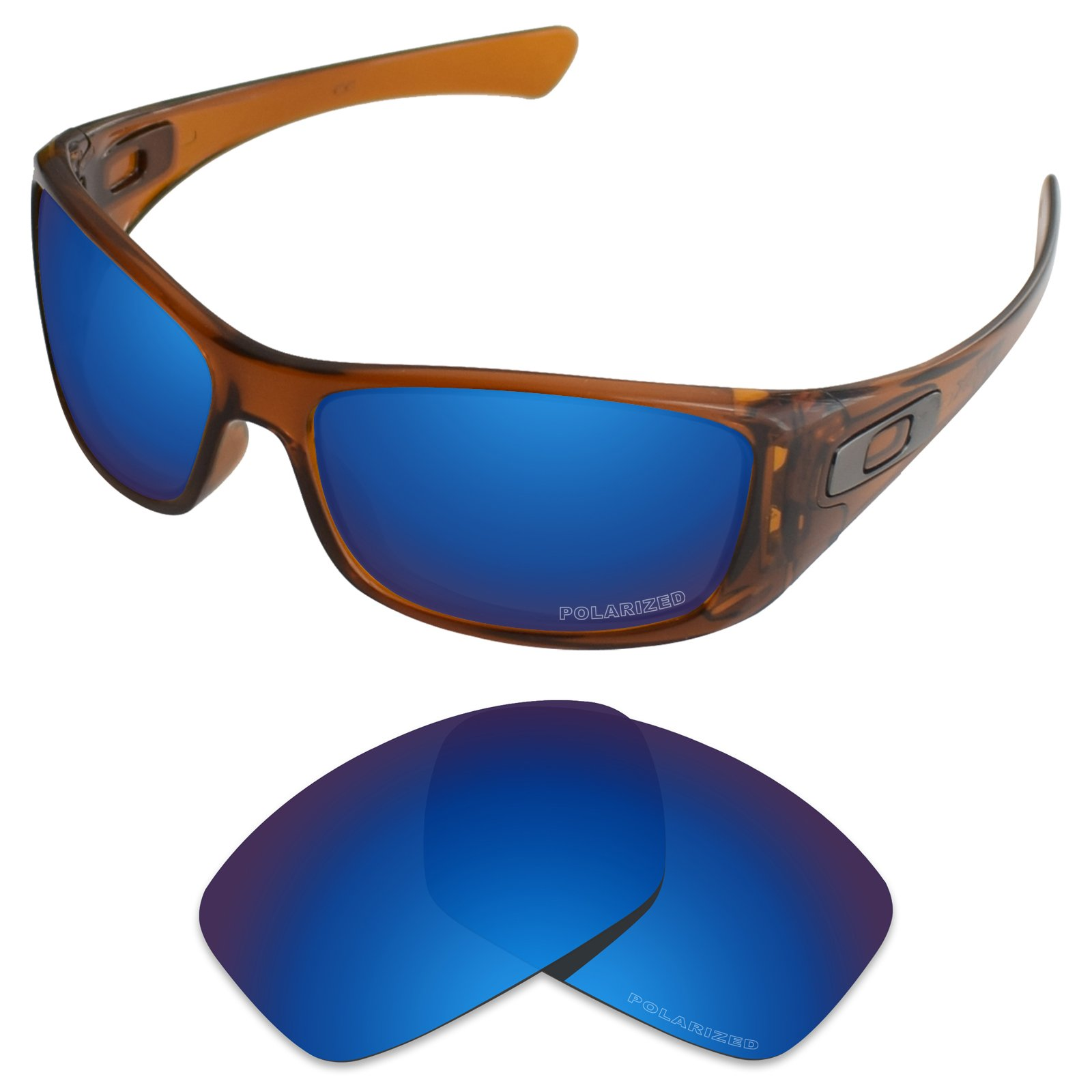 Tintart Performance Replacement Lenses for Oakley Hijinx Sunglass Polarized Etched-Sapphire Blue by Tintart