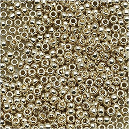 TOHO 15/0 Galvanized Aluminum Metallic Round Glass Japanese Seed Beads #558 10g package