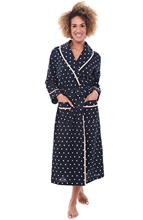 Alexander Del Rossa Womens Dotted Cotton Summer Robe 882c5b049