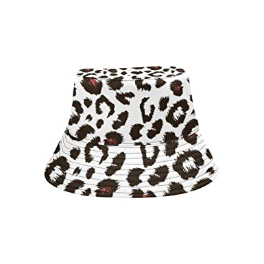 f9b879585f93 Image Unavailable. Image not available for. Color: Bucket Hat Leopard Print  Pattern Outdoor Travel ...