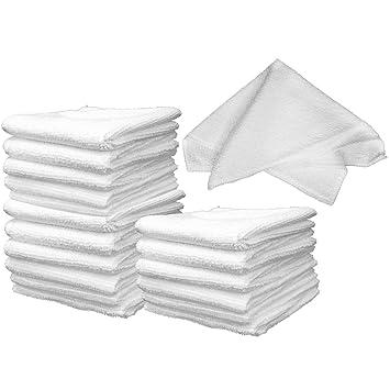 com-four® 18 toallitas faciales de Microfibra (18 Piezas - 20x20cm)