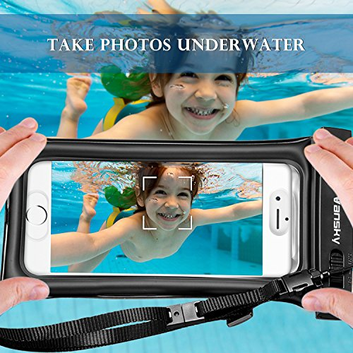Floatable Waterproof Phone Case, Vansky Waterproof Phone Pouch Dry Bag with Armband and Audio Jack for iPhone X, 8 Plus, 8, 7 Plus, 7, 6s, 6, Andriod; TPU Construction IPX8 Certified by Vansky (Image #5)