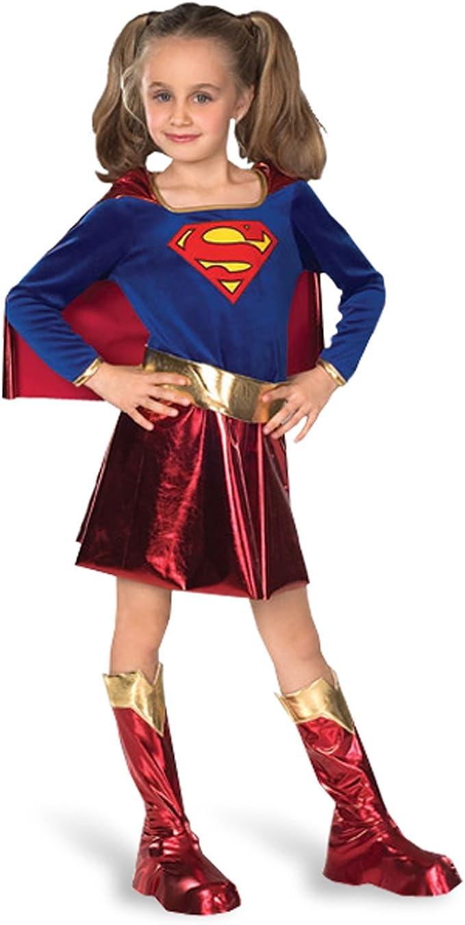 Supergirl-Superman-Disfraz para niña: Amazon.es: Juguetes y juegos