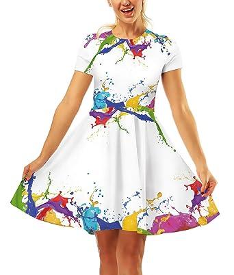 Vestidos Fiesta Mujer Verano Elegantes Moda Falda Plisada ...