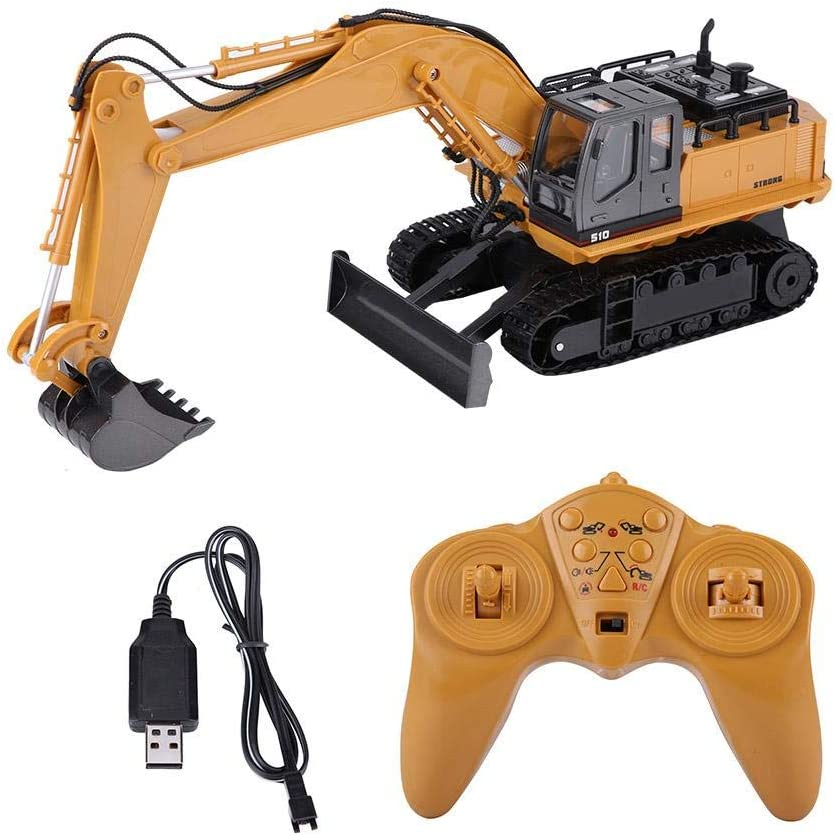 Ksovv RC Electric Toy Car Remote Control Tractor Qingyi Childrens Toys Multi-Function Remote Control Farmer Truck Engineering Dump Truck Rc Engineering Car Remote Control Toy Car Birthday G