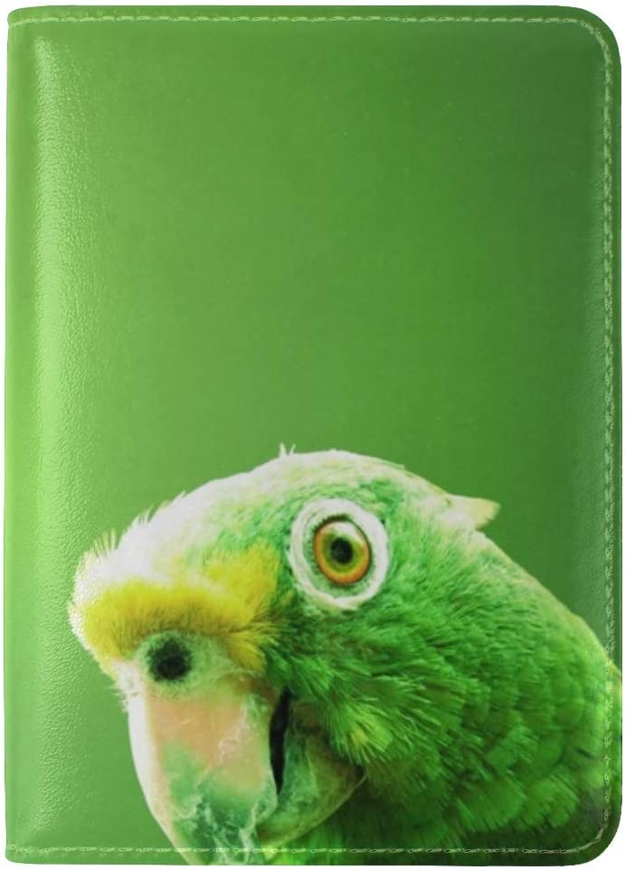 Parrot Bird Beak Background Leather Passport Holder Cover Case Travel One Pocket