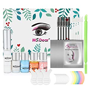 Lash Lift Kit, MS.DEAR Eyelash Perm Kit Professional Lash Extensions Semi-Permanent Curling Perming Wave Beauty Gift for Salon and Home Use