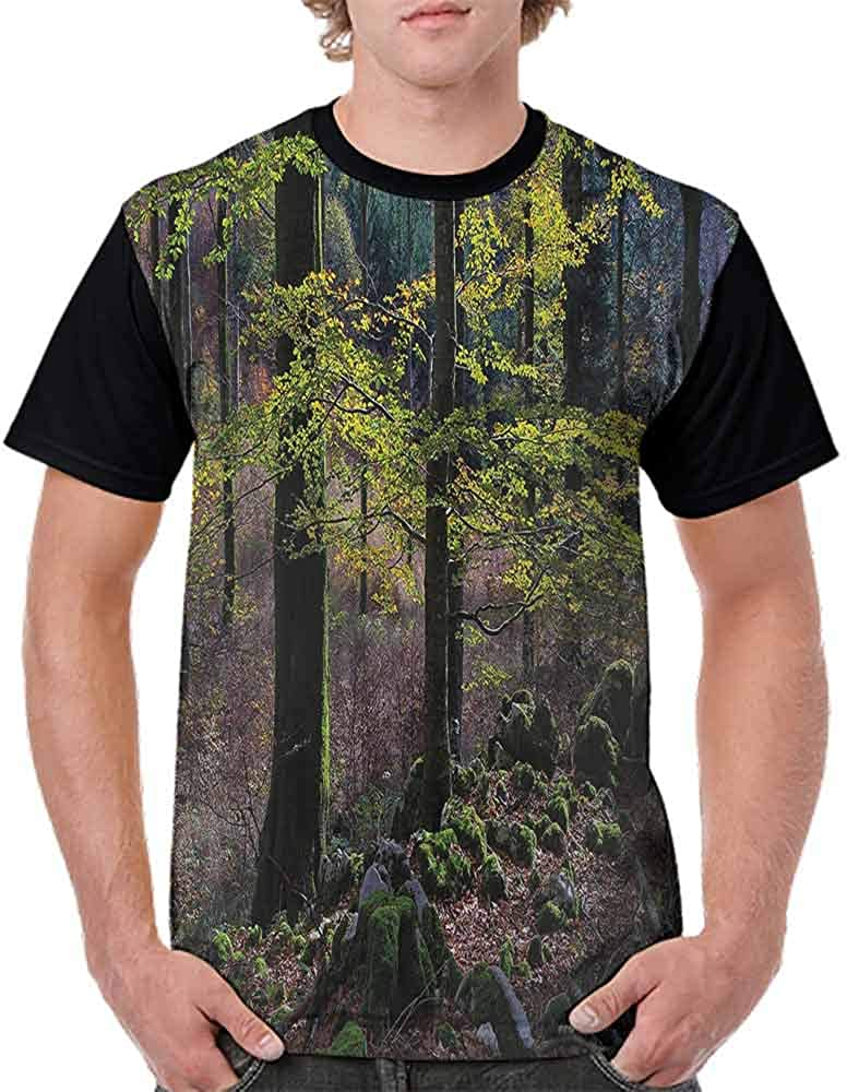 BlountDecor Classic T-Shirt,Trees Autumn Wilderness Fashion Personality Customization