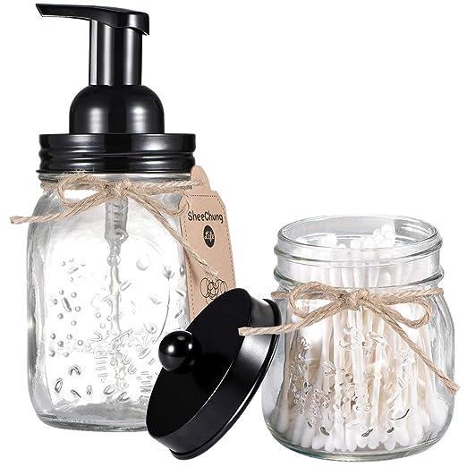 SheeChung Mason Jar - Juego de accesorios de baño (incluye ...