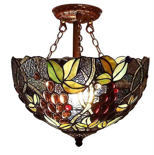 Tiffany de tipo de colgantes de lámpara, diseño de uvas de ...