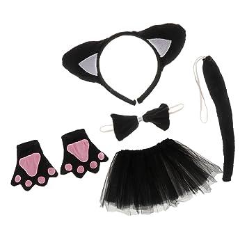 Sharplace Katze Tier Handschuhe Stirnband Tutu Schleife Schwanz