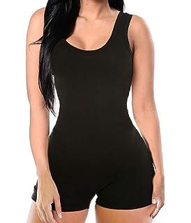 f1015d654c3 Women Bodysuit One Piece Jumpsuit Romper Body Suit Bodycon Yoga Sexy Tank  Top Shorts Pants Catsuit