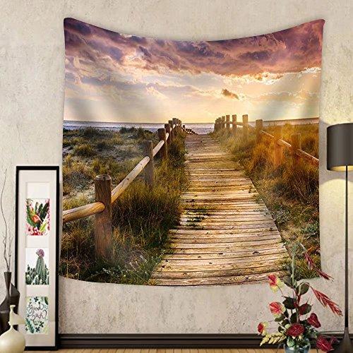 Niasjnfu Chen Custom tapestry Sunset Beach near Almeria. Cabo De Gata Nijar Natural Park Almer&iacuteA. Spain. Andalusia - Fabric Wall Tapestry Home Decor by Niasjnfu Chen