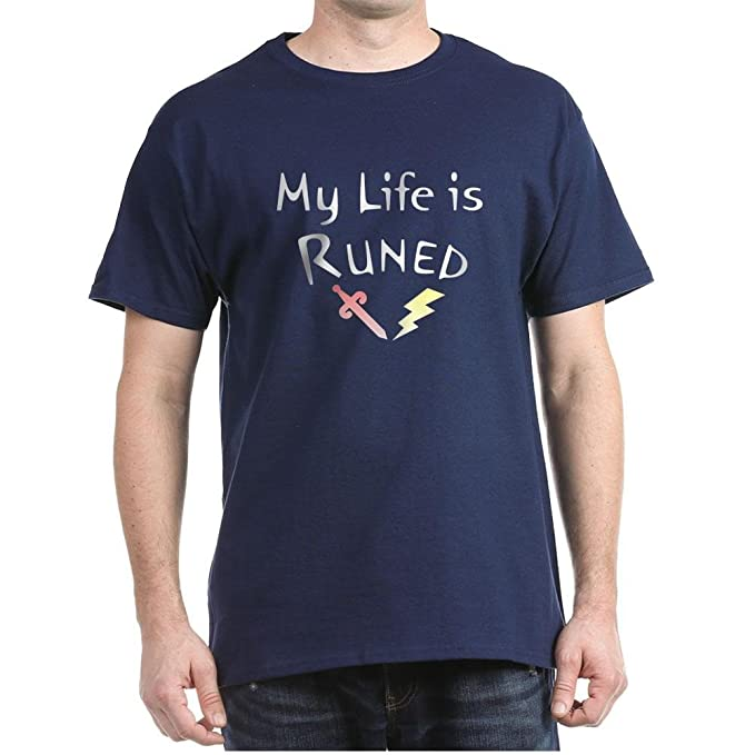 58ce674f Amazon.com: CafePress My Life is Runed - (Runescape Fan Cotton T ...