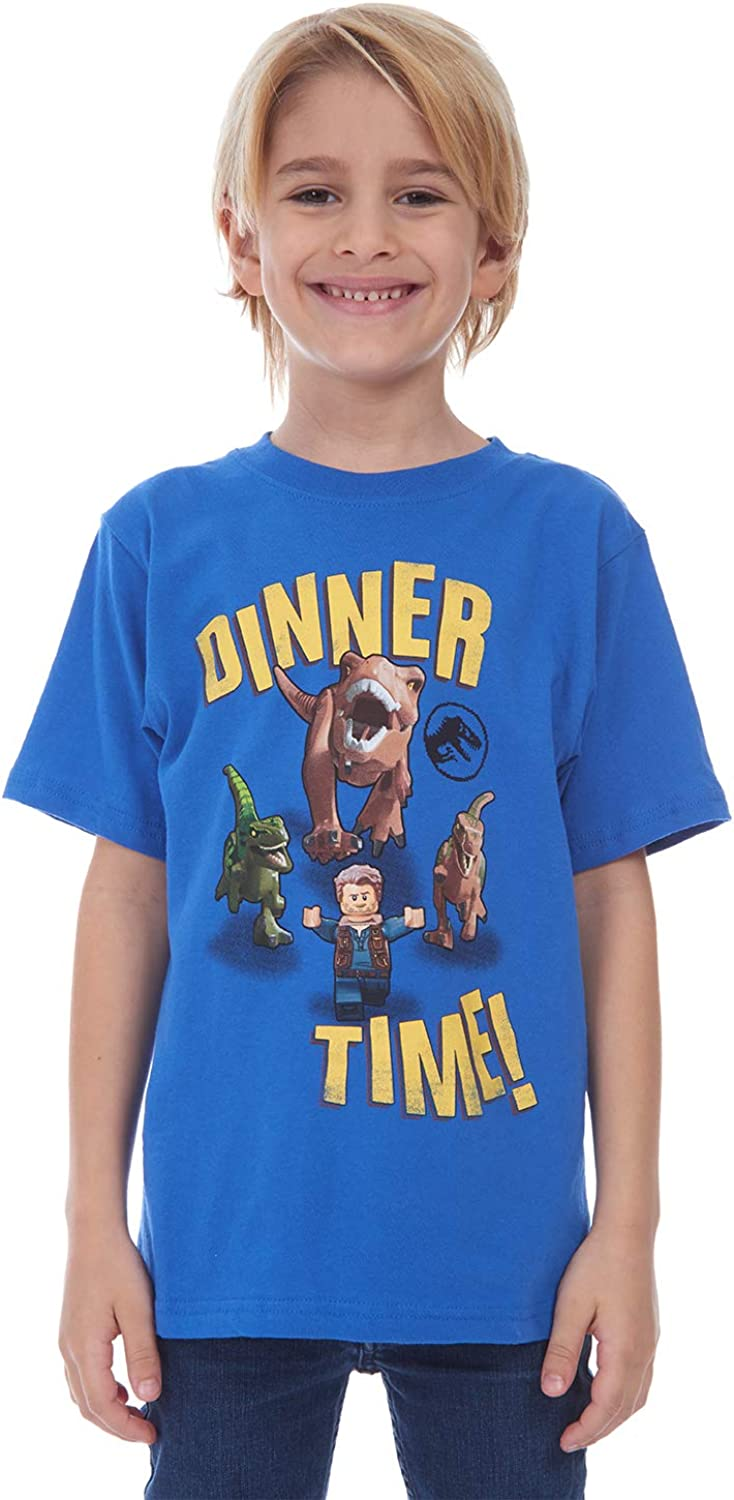LEGO Boys Jurassic Park T-rex and Raptors Dinner Time Tee