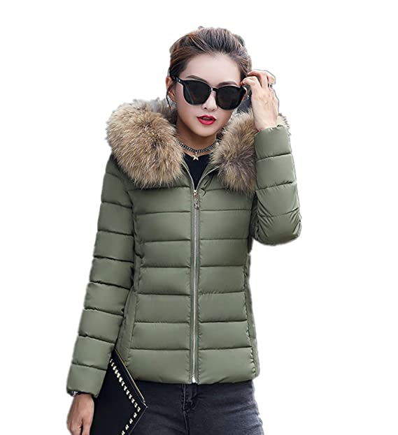 new arrivals 277a8 a0ce2 Theshy Damen Winterjacke Wintermantel Lange Daunenjacke Jacke Outwear  Frauen Winter Warm Daunenmantel Arbeiten Sie festen beiläufigen dickeren  dünnen ...