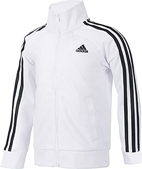 b1cb75ca95803 Amazon.com: adidas Girls 7-16 Warm up Tricot Track Jacket (Small ...