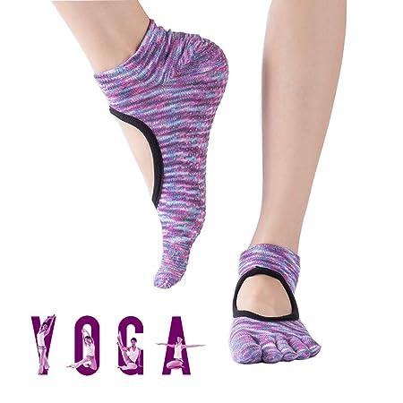 Calcetines Yoga Mujer Silicona Gránulos De Algodón De ...