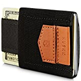HUSKK Minimalist Slim Wallet - 10 Card Holders - Cash & Keys -Brown