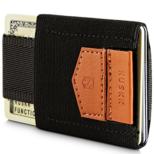 Wallets for Men - Mens Wallet - Slim Small Thin Minimalist Card Holder Wallet [ECSC-B] from HUSKK