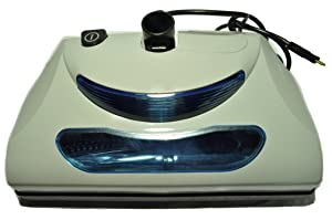 """Central Vacuum Cleaner Power Nozzle, 12"""" wide, color gray, 1 1/4"""" fitting, with headlight, metal brushroll, will also fit Eureka and Rainbow"""