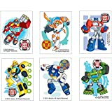 SmileMakers Transformers Rescue Bots Temporary Tattoos - Birthday and Theme Party Supplies - 144 per Pack