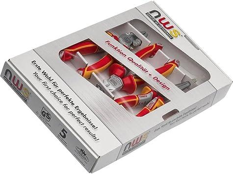 NWS 782 - Pack de 3 alicates VDE, universal + corte diagonal + boca semiredonda recta: Amazon.es: Bricolaje y herramientas