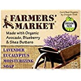 Farmers' Market Organic Moisturizing Soap, Lavender and Eucalyptus, 5.5 Ounce