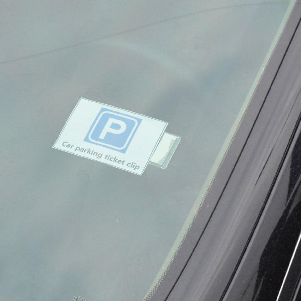 2x Vehicle Car Accessories Parking Ticket Permit Card Holder Sticker Clip H8N7