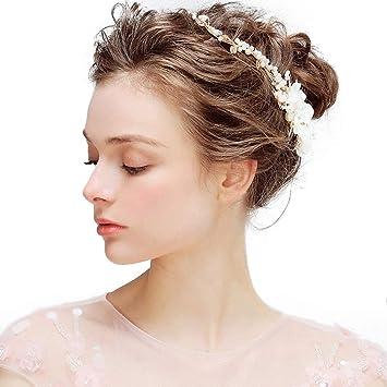 Bowknot En épingle à Cheveux Coiffure Or Mariée Bandeau