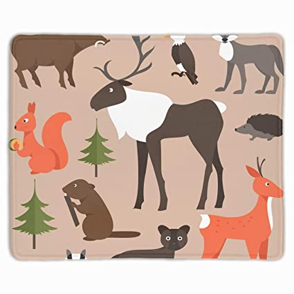 334621a2adcfa Amazon.com : Forest Animals Mouse Pad Stylish Non Slip Mousepad Mat ...
